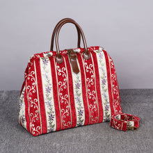 Load image into Gallery viewer, Mary Poppins Carpet Bag<br>Victorian Stripes Coffee