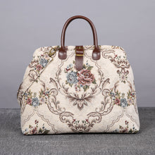 Load image into Gallery viewer, Mary Poppins Carpet Bag<br>Floral Cream