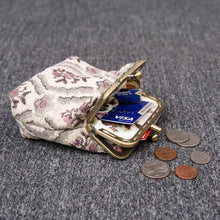 Load image into Gallery viewer, Vintage Carpet Coin Purse Double Kiss Lock<br>Traditional Color