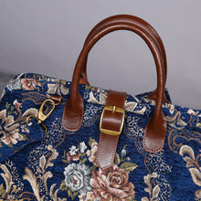 Load image into Gallery viewer, Mary Poppins Carpet Bag<br>Floral Blue