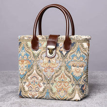 Load image into Gallery viewer, Mini Carpet Tote<br>Golden Age Blue