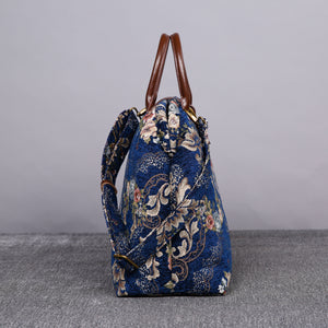 Mary Poppins Carpet Bag<br>Floral Blue