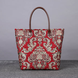 Carpet Tote<br>Victorian Blossom Red/Gold