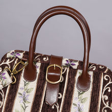 Load image into Gallery viewer, Carpet Purse<br>Victorian Stripes Coffee