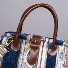 Load image into Gallery viewer, Carpet Purse<br>Ethnic Stripes Navy