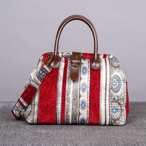 Carpet Purse<br>Ethnic Stripes Wine