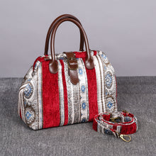 Load image into Gallery viewer, Carpet Purse<br>Ethnic Stripes Wine