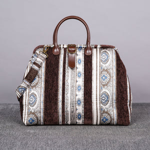 Mary Poppins Carpet Bag<br>Ethnic Stripes Coffee
