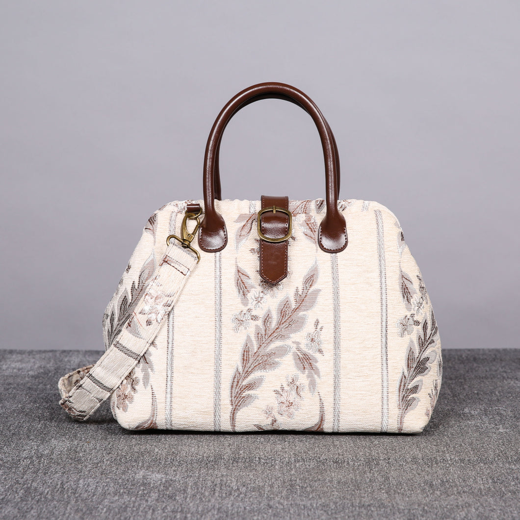 Carpet Purse<br>Ethnic Stripes Cream