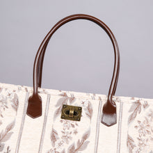 Load image into Gallery viewer, Carpet Tote<br>Victorian Stripes Cream