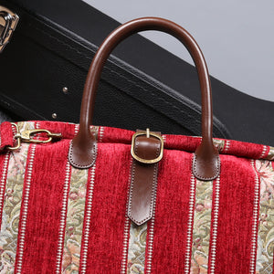 Mary Poppins Carpet Bag<br>Floral Stripes Red