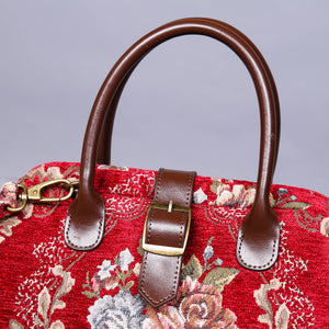 Carpet Purse<br>Floral Wine