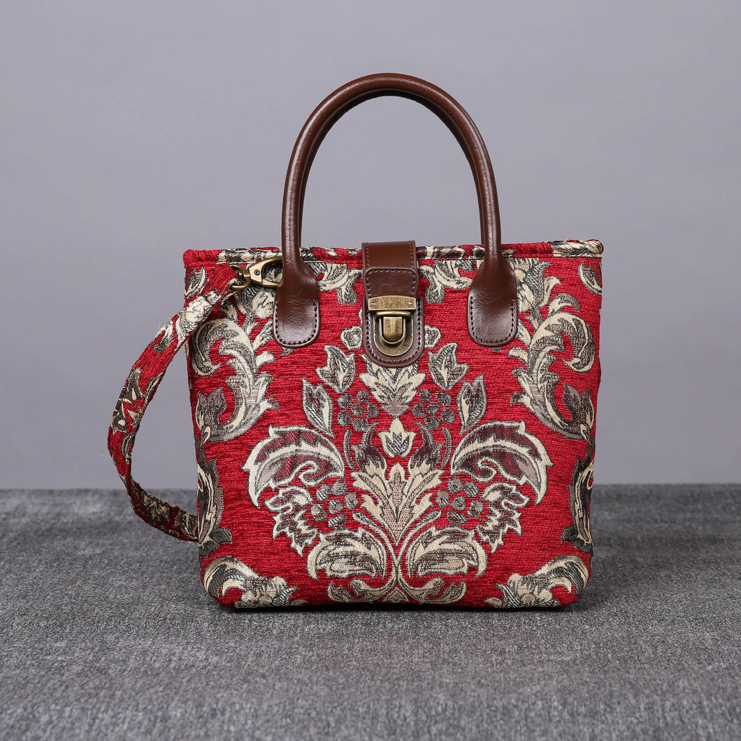 Mini Carpet Tote<br>Victorian Blossom Red/Gold