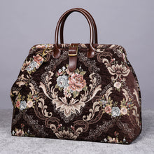 Load image into Gallery viewer, Mary Poppins Carpet Bag<br>Floral Coffee