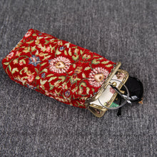 Load image into Gallery viewer, Vintage Carpet Glasses Case Double Kiss Lock<br>Oriental Color