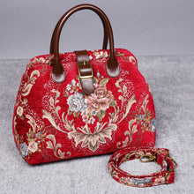 Load image into Gallery viewer, Carpet Purse<br>Floral Wine