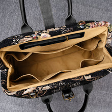 Load image into Gallery viewer, Mary Poppins Carpet Bag<br>Floral Black