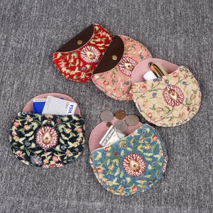 Minimalist Style Leather Carpet Coin Purse<br>Oriental Colors
