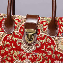 Load image into Gallery viewer, Mini Carpet Tote<br>Oriental Wine