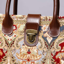 Load image into Gallery viewer, Mini Carpet Tote<br>Golden Age Wine