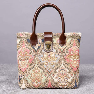 Mini Carpet Tote<br>Golden Age Pink
