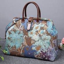 Load image into Gallery viewer, Mary Poppins Carpet Bag<br>Abstract Blue