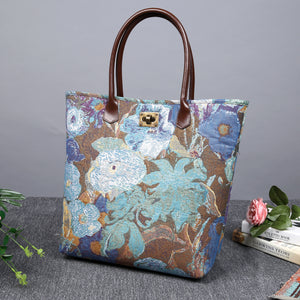 Carpet Tote<br>Abstract Blue