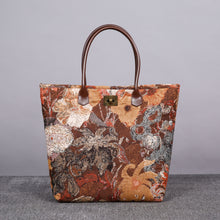 Load image into Gallery viewer, Carpet Tote<br>Abstract Brown