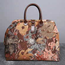 Load image into Gallery viewer, Mary Poppins Carpet Bag<br>Abstract Brown