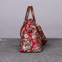 Load image into Gallery viewer, Carpet Purse<br>Victorian Blossom Red/Gold