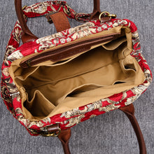 Load image into Gallery viewer, Carpet Handbag<br>Victorian Blossom Red/Gold