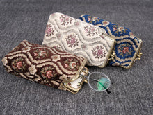 Load image into Gallery viewer, Vintage Carpet Glasses Case Double Kiss Lock<br>Traditional Color