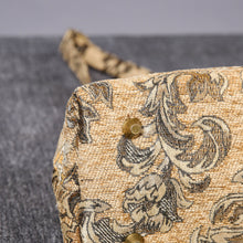 Load image into Gallery viewer, Carpet Handbag<br>Victorian Blossom Beige/Gold