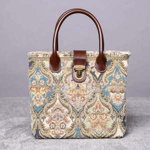 Mini Carpet Tote<br>Golden Age Blue