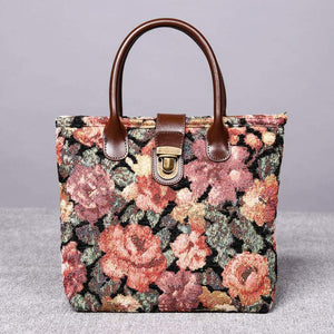Mini Carpet Tote<br>Floral Rose