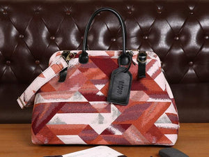 Men's Carpet Bag<br>Geometric Coral