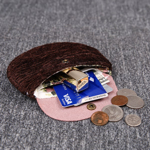 Minimalist Style Leather Carpet Coin Purse<br>Solid Colors