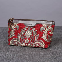 Load image into Gallery viewer, Carpet Makeup Bag<br>Victorian Blossom Red/Gold