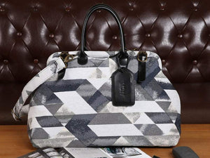 Men's Carpet Bag<br>Geometric Smoke