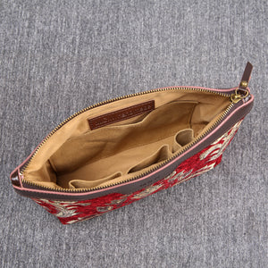 Carpet Makeup Bag<br>Victorian Blossom Red/Gold