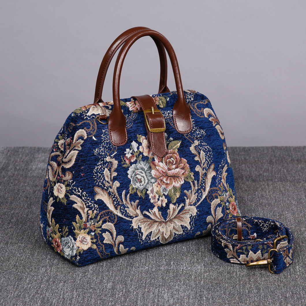 Carpet Purse<br>Floral Blue