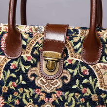 Load image into Gallery viewer, Mini Carpet Tote<br>Oriental Navy