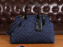 Load image into Gallery viewer, Men's Carpet Bag<br>Aztec Navy