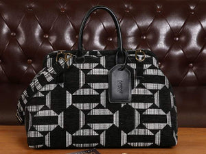 Men's Carpet Bag<br>Geometric Grey