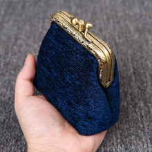 Load image into Gallery viewer, Vintage Carpet Coin Purse Double Kiss Lock<br>Solid Color