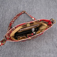 Load image into Gallery viewer, Carpet Crossbody Bag<br>Victorian Blossom Red/Gold