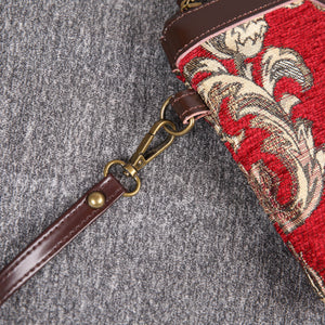 Carpet Clutch & Wristlet<br>Victorian Blossom Red/Gold