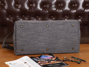 Men's Carpet Bag<br>Grey