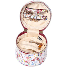 Load image into Gallery viewer, Round Jewelry Case<br>Blossom Wine