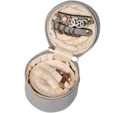 Load image into Gallery viewer, Round Jewelry Case<br>Pearl Grey
